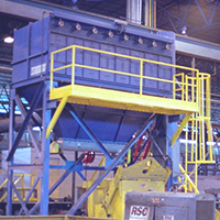The cartride side access style dust collector is grate for industrial applications where HEPPA quality air filtration is needed
